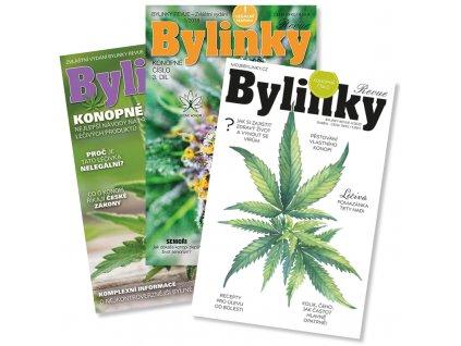 Konopné Bylinky, 3 vydání  Tři speciální vydání o konopí, magazín Bylinky revue, autor Lukáš Hurt. Obsahuje legální semínka konopí odrůdy Kompolti